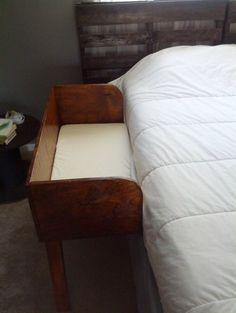 DIY wooden co-sleeper