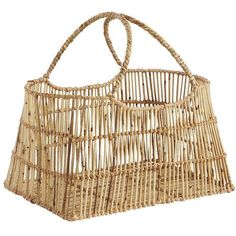 Everyone needs a stylish place to stash their extra stuff, and our hand-woven, rattan basket is just that. Easily store scarves and gloves in a mudroom, or pack in extra pillows or throw blankets in the den. No matter where you put it, you'll always find something to put in it.