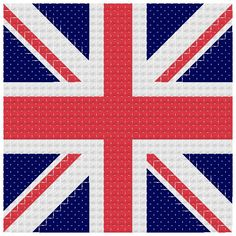Union Jack Cross Stitch Charts - WAY better if it was the English flag!