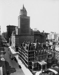 The Gilded Age Era: The Cornelius Vanderbilt II Mansion, New York City overshadowed by commercial development. Vanderbilt's Petit Chateau by Richard Morris Hunt. In 1926, the mansion was sold to the Braisted Realty Corporation for  approximately  $7 million. Bergdorf Goodman's flagship store quickly took the mansion's place.