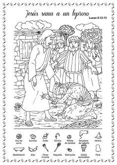 Bible Crafts For Kids, Jesus Heals, Hidden Pictures, Hidden Objects, Cool Coloring Pages, Riddles, Kids Education, Sunday School, Book Design