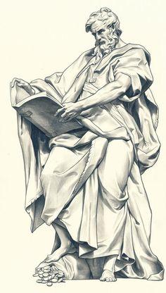 b the body art - Tattoos And Body Art Religious Tattoos, Religious Art, Drawing Sketches, Art Drawings, Statue Tattoo, Biblical Art, Wow Art, Renaissance Art, Gravure