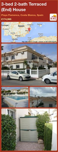 Terraced (End) House for Sale in Playa Flamenca, Costa Blanca, Spain with 3 bedrooms, 2 bathrooms - A Spanish Life Stair Storage, Cupboard Storage, Valencia, Radiator Heater, Portugal, Under Stairs, Double Bedroom, Heating Systems, Shopping Center