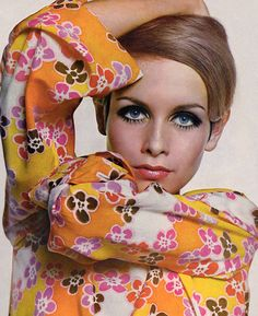 "Gallery Wall Idea: Supermodel Snapshots - Twiggy in Vogue, 1967 12"" x 12"" Print, $139"
