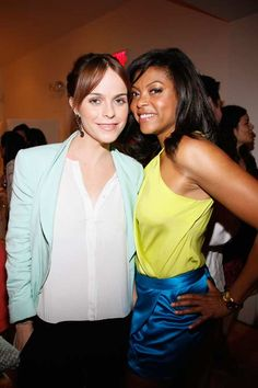 """Actresses Taryn Manning from Netflix's Orange Is the New Black and Taraji P. Henson from CBS's Person of Interest at the second annual #Run10Feed10 """"Under the Stars"""" party at the Bridgehampton Surf & Tennis Club. More photos: http://www.womenshealthmag.com/life/hamptons-kickoff-party?cm_mmc=Pinterest-_-WomensHealth-_-content-life-_-hamptonsparty"""