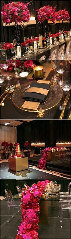 Glamorous ballroom wedding reception idea; photo: Blumenthal Photography