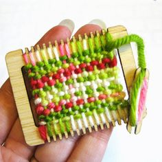 Something for the weaving enthusiast in your life!  Weaving Loom Ornament  Hand dyed yarn Sugar Cookie by beckarahn, $10.00