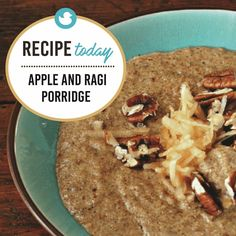apple and ragi porridge