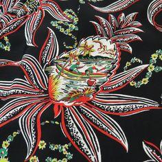 Aloha Shirt, Vintage Hawaiian, Pineapple, Surfing, Passion, Retro, Shirts, Dresses, Vestidos