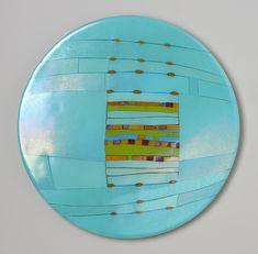 Aqua Window Round by Lynn Latimer: Art Glass Wall Art available at www.artfulhome.com