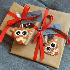 15 Best Fun Perler Beads Designs Easy To Get Started Perler Bead Designs, Hama Beads Design, Diy Perler Beads, Pearler Bead Patterns, Christmas Gift Wrapping, Christmas Crafts, Christmas Decorations, Xmas, Pixel Art Noel