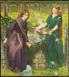 """""""Dante's Vision of Rachel and Leah"""", 1855 / Dante Gabriel Rossetti (1828-1882) / Tate, London, UK"""