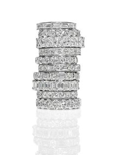 Harry Winston Diamond Rings One for every finger. Eternity Ring Diamond, Eternity Bands, Diamond Bands, Diamond Cuts, The Bling Ring, Bling Bling, Donia, Anniversary Bands, Happy Anniversary