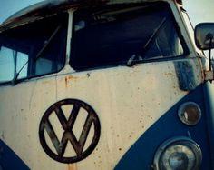 boys room, boys nursery, volkswagen, vw, surfer photo, bus, pacific, navy blue, white, silver, beach, surfer, kids room, retro - VW, 12x12