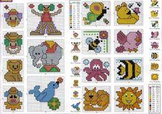 Schema punto croce Idee Infantili 90