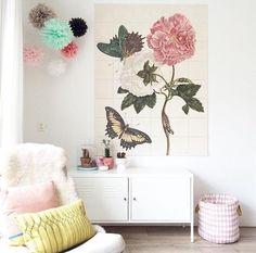 The IXXI of the Teylers Museum Imagebank. Love! Get more inspiration at www.ixxidesign.com/inspiration #IXXI #ixxiyourworld #flowers #butterfly #wallart #art #TeylersMuseum #pink #pretty #pastel #home #interior #walldecoration #DIY #homeideas