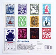 Rob Ryan Calendar 2014 by misterrob on Etsy