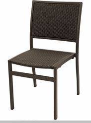 Florida Seating Commercial Aluminum/PE Weave Outdoor Restaurant Chair    outdoorrestaurantfurniture4sale.com