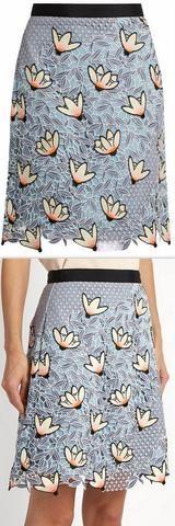 Peony Lace Mini Skirt