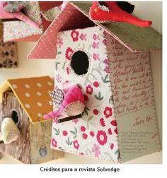 Casa de passarinho com molde
