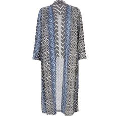I'm shopping Black mixed print longline kimono in the River Island iPhone app.
