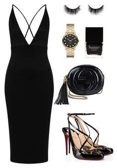 Flashlight! by zeineb-ayachi on Polyvore featuring polyvore fashion style Oh My Love Christian Louboutin Gucci Marc by Marc Jacobs Butter London clothing