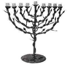 9 Branch Sderot Menorah - made from Kassam Rockets!