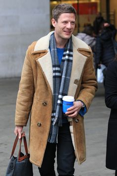 James Norton leaving the BBC Radio 1 studios in London, 1st March 2016