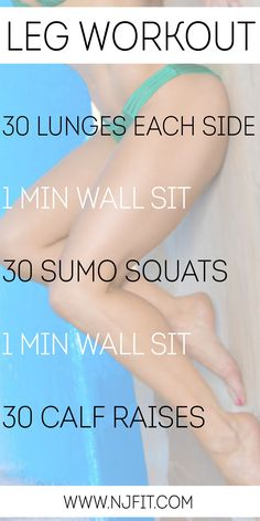 Try this workout to tone up your legs! If you find this too easy, repeat the workout when you're finished.