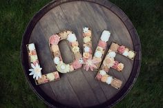 """Felt Floral Letters - """"LOVE"""" - Wedding or Home Decor by SugarSnapBoutique on Etsy https://www.etsy.com/listing/201103857/felt-floral-letters-love-wedding-or-home"""