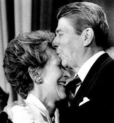 Ronald and Nancy.  Sweet.  Ronald - February 6, 1911 – June 5, 2004  Nancy - July 6, 1921