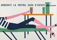 advertisement for La Rinascente, 1956 by Lora Lamm