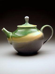 Valerie Lake Teapot at MudFire Gallery. Wheel thrown stoneware teapot