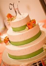 green and orange wedding cakes - Google Search - love the white dots, I want to…