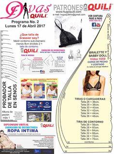 patron gratis divas 17 abril Sewing Patterns Free, Clothing Patterns, Free Pattern, Free Sewing, Aya Couture, Modelista, Lingerie, Diy Clothes, How To Make