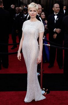 Michelle Williams in Chanel at the Oscars 2011.