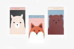 Memo pad [ Fox / Bear / Alpaca ] / Note pad / Letter / 101671590 by DubuDumo on Etsy