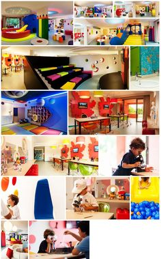 Salle de jeux The truly amazing Club Abami kids club at Tenerife's luxurious Abama resort Kids Play Area, Kids Room, Café Design, Daycare Design, Classroom Design, Parc A Theme, Kindergarten Design, Kids Cafe, Indoor Playground