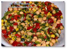 Gül Kokulu Mutfaklar: NOHUT SALATASI Turkish Mezze, Turkish Salad, My Recipes, Salad Recipes, Cooking Recipes, Healthy Recipes, Roasted Eggplant Dip, Turkish Recipes, Ethnic Recipes