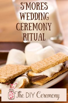 Tired of the same old wedding rituals? Try a fun s'mores wedding ceremony ritual! It's a sweet and unique touch for your wedding day! Wedding Ceremony Script, Wedding Readings, Unity Ceremony, Wedding Rituals, Wedding Ceremonies, Trendy Wedding, Diy Wedding, Wedding Ideas, Wedding Planning
