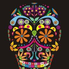 Be Diff - Estampas digitais | caveira mexicana by julipa