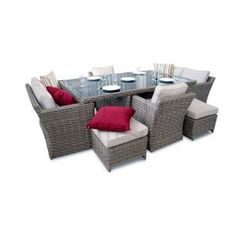 9PC High Back Grand Sofa Cube Set