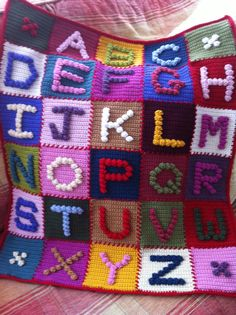 CROCHET BOBBLES Pattern  ALPHABET  Book   by CrochetBobbles