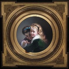 Two Laughing Girls by Pere Borrell del CasoThe second work of Pere Borrell I wanted to feature is one he completed in 1880 entitled Two Laughing Girls which can be found at the Museu del Modernisme Català (Museum for Catalan Modernism).  In this painting, Borrell has ingeniously depicted the two girls partly entering our space.