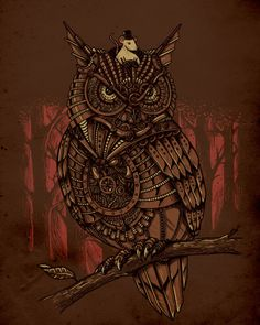 Steampunk owls are cool.