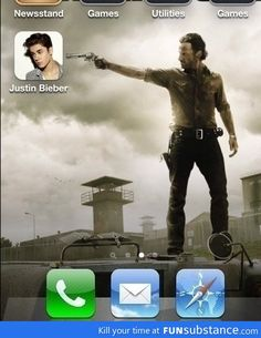 Changed my sister's iPhone background