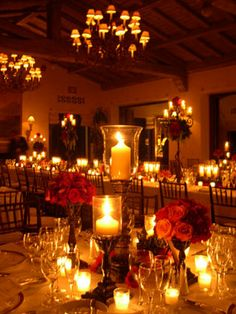 Wedding Fiesta Centerpieces.   100% Candles.   No flowers.