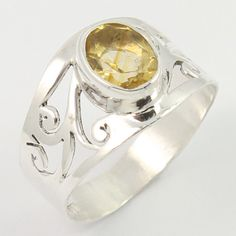 Real CITRINE Gemstone 925 Sterling Silver Amazing Ring Size US 7 Wholesale Offer #SunriseJewellers