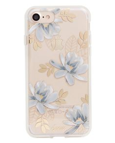 Vintage granny magnolia metallic florals with gold foil Hello! This is the iPhone 7 case for the gal who loves it all! A transparent polycarbonate back with our gold foil design shows off your phone.