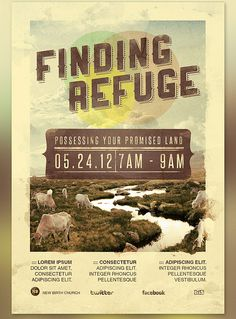 Finding Refuge Flyer and CD Template This Flyer and CD Label can be used for your Sermons, Gospel Concerts, Youth programs, etc. In this package you'll find 3 Photoshop files. All text and graphics in the files are editable, color coded and simple to edit. The file also has 5 one-click color options.